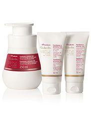 Presente Natura Tododia Framboesa e Pimenta Rosa - Creme Hidratante para Mãos + Creme Desodorante para os Pés + Desodorante Hidratante Corporal