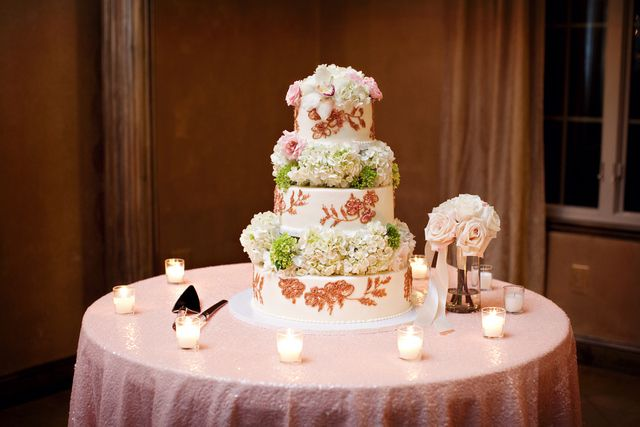 Sequin Linen Cake Table Erin McLean Events Weddings Pinterest