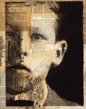 Collage portrait. Michelle Caplan.