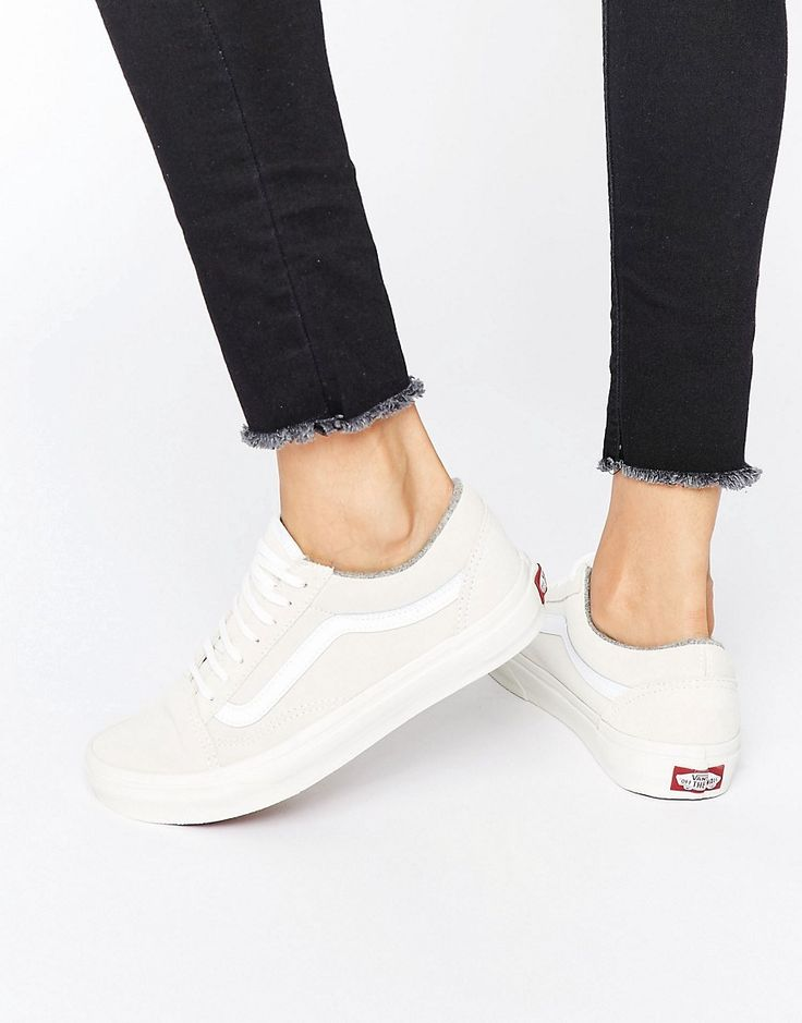 Vans+Old+Skool+Nude+Suede+Trainers