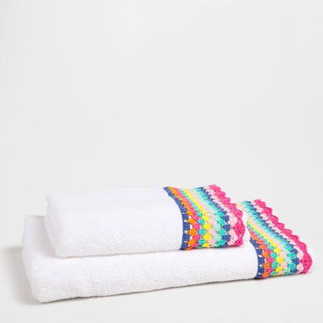 Multicoloured Crochet Towel - Towels - Bathroom | Zara Home United States
