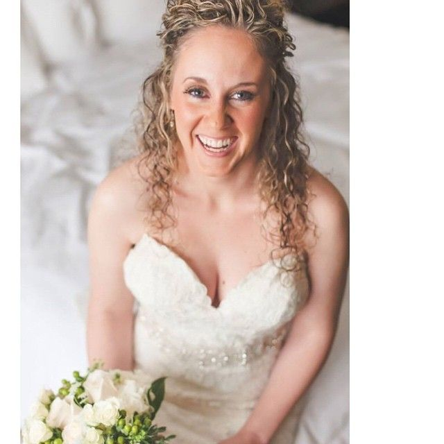 Beautiful Bride Kim. Hair by Jen! And Make up by me.