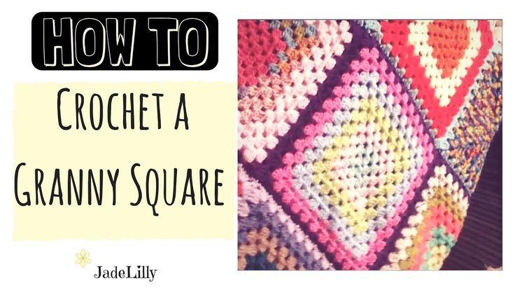 Granny Square Crochet Tutorial - Jade Lilly Crochet