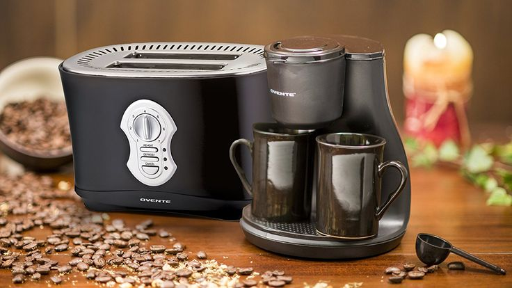 Ovente CM3B 2-Cup Coffee Maker with 2250B 2-Slice Toaster -- See this awesome image  : Coffee Maker