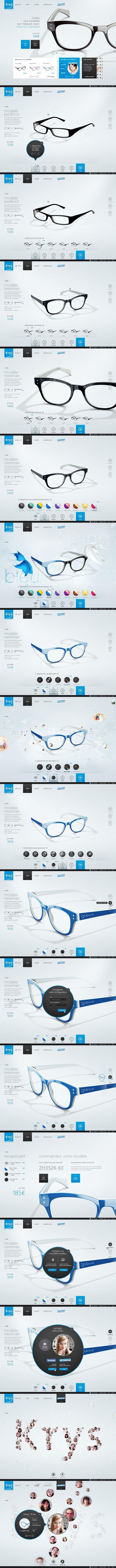 UX/UI Design / Krys Configurator by Yul