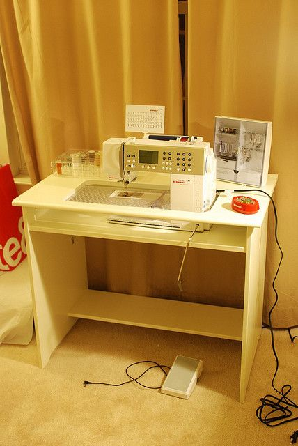 Finished: ikea hacked sewing table