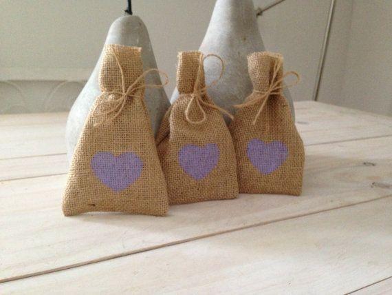 100 Purple Hessian/ Burlap Wedding Favor Bags by BreeWestwood, $150.00