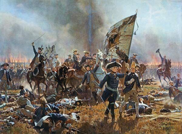 Carl Röchling-Friedrich der Große in der Schlacht von Zorndorf
