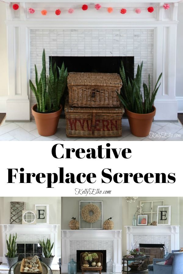 Creative Fireplace Screens Fireplace Decorative Fireplace