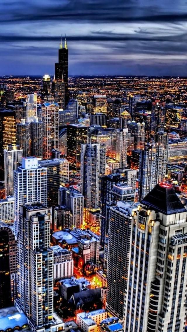 Chicago, Illinois.  Such an exciting city to explore. The cityscape at night when we drove into Chicago, one of the most impressive I've seen.