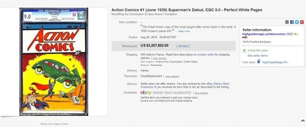 First Superman Comic Sold for $3.2 Million