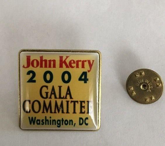 "John Kerry 2004 Gala Committee Washington DC Lapel Pin Back 1"" Square USA Union    eBay"
