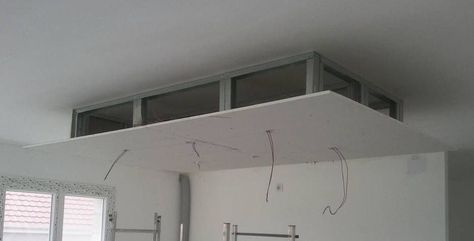 comment soi même photos de réalisations personnelles plafond descendu décaissement escalier design contemporain salle bain zen construire moderne