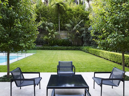 Lawn and entertaining area | Ignore style of seating | Open | Simple | Space |Variety around the egdes