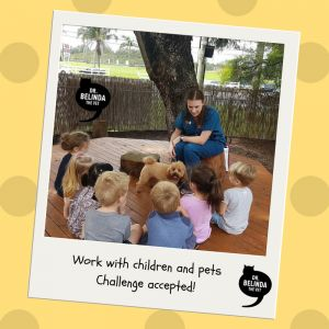 Working with children and pets. Challenge accepted!