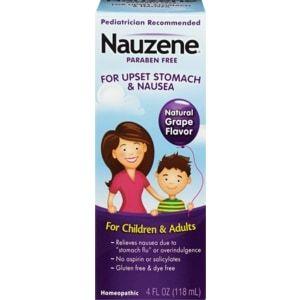Nauzene Upset Stomach & Nausea for Children and Adults, Grape Flavor