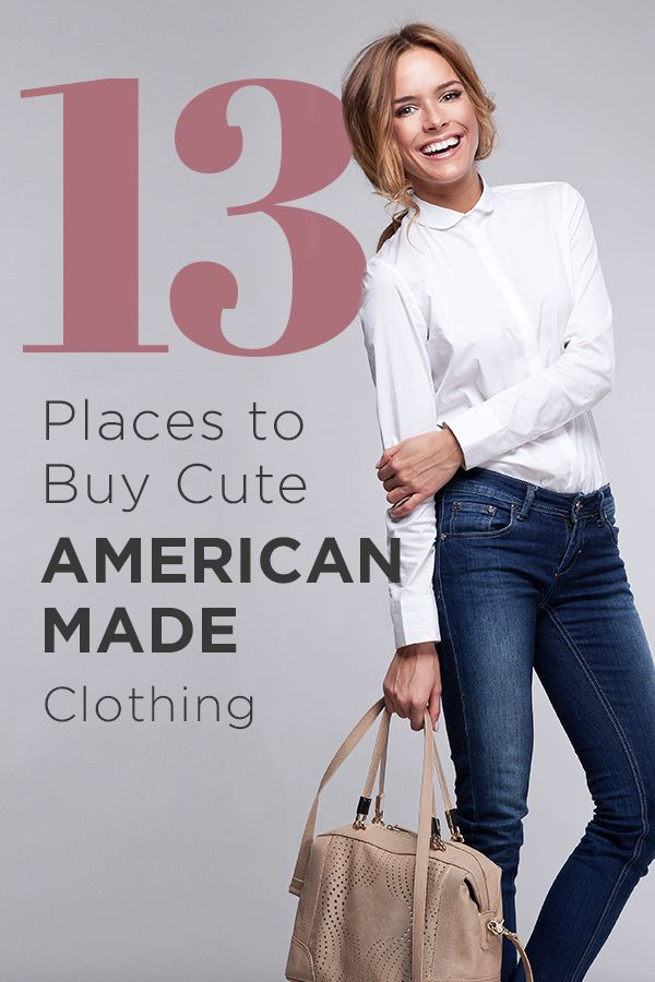 13 Places to buy cute American made clothing