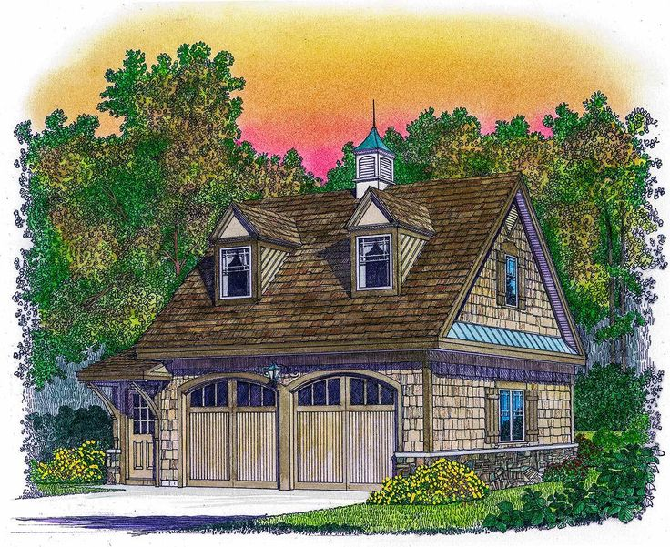 Two Car Man Cave - 43055PF | Architectural Designs - House Plans