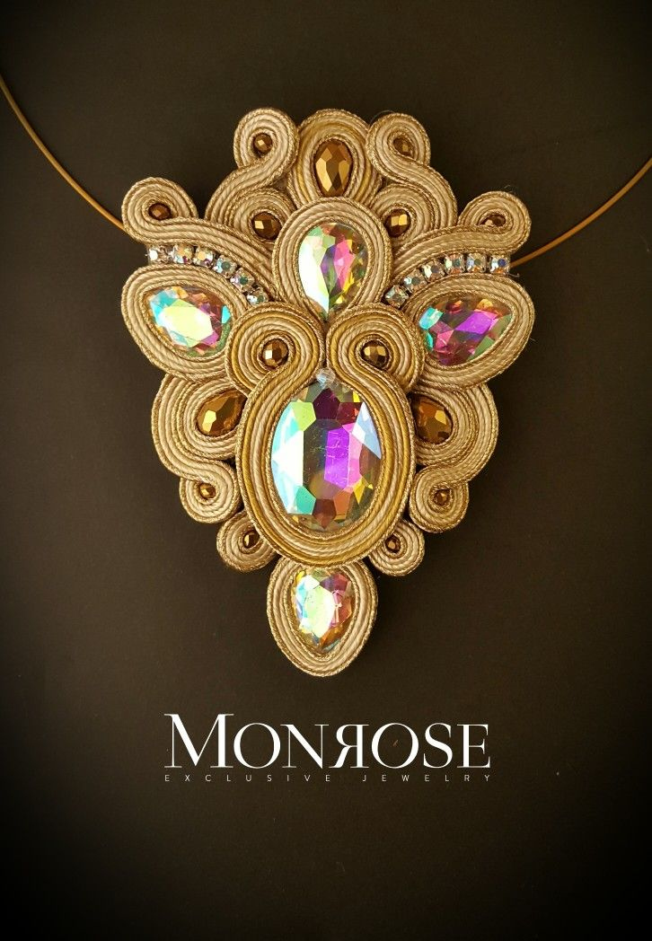 "Soutache necklace ""Alhambra"""