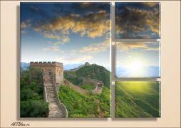 Модульная картина.Великая китайская стена.Подарок для партнера.Подарки для коллег