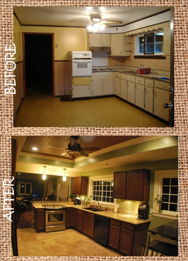 Before And After Kitchen Remodel Style Pinterest