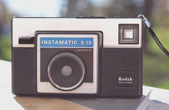 Vintage Kodak Instamatic X-15, Caméra Kodak Instamatic, Vintage, Caméra Vintage, Appareil Photo Argentique, Rétro