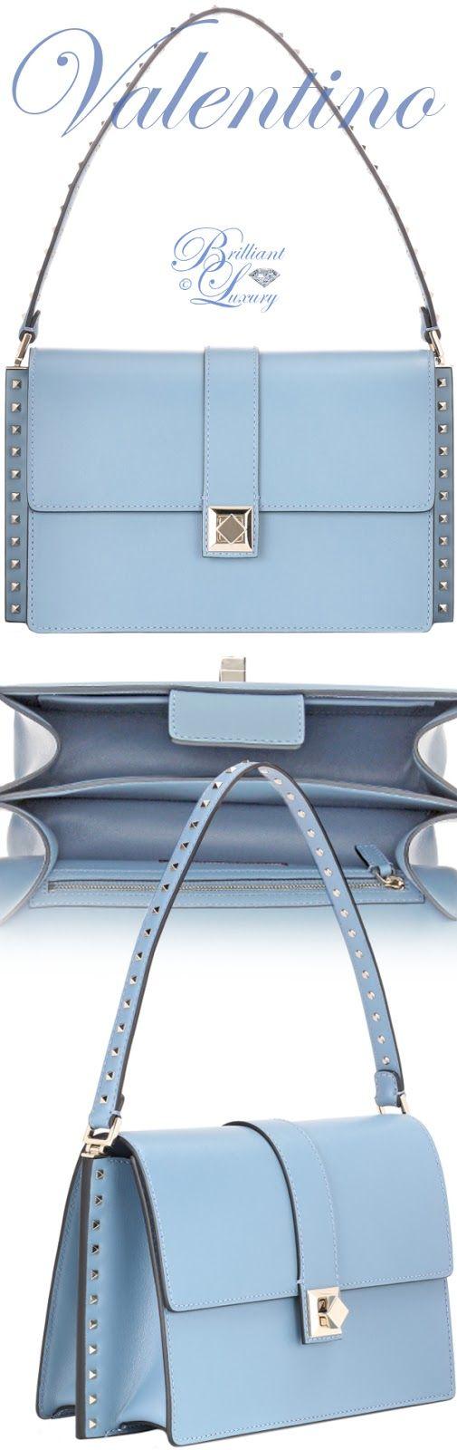 Brilliant Luxury ♦ Valentino Garavani Rockstud leather shoulder bag