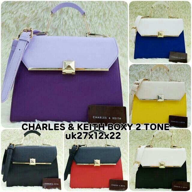 CHARLES & KEITH BOXY 2TONE