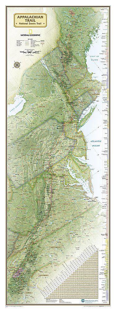 Buy map: Appalachian Trail, Laminated, Polybagged by National – YellowMaps Map Store