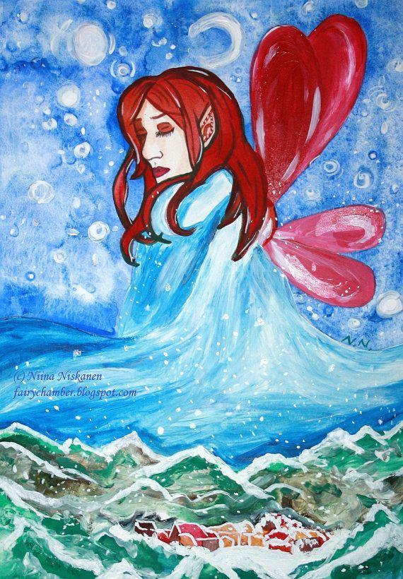 Winterbringer  Fairy Illustration  Fantasy Art by fairychamber