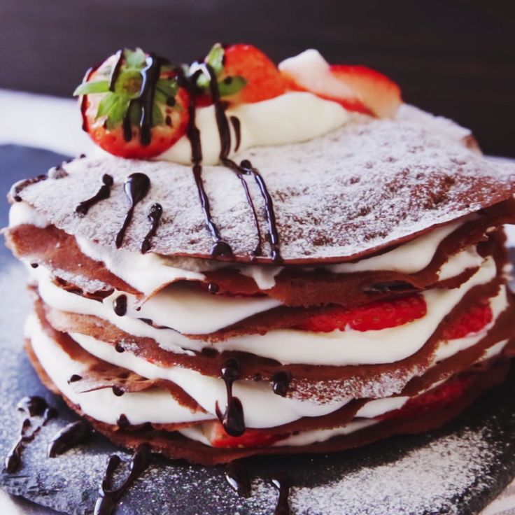 How to make Chocolate Mille Crepe