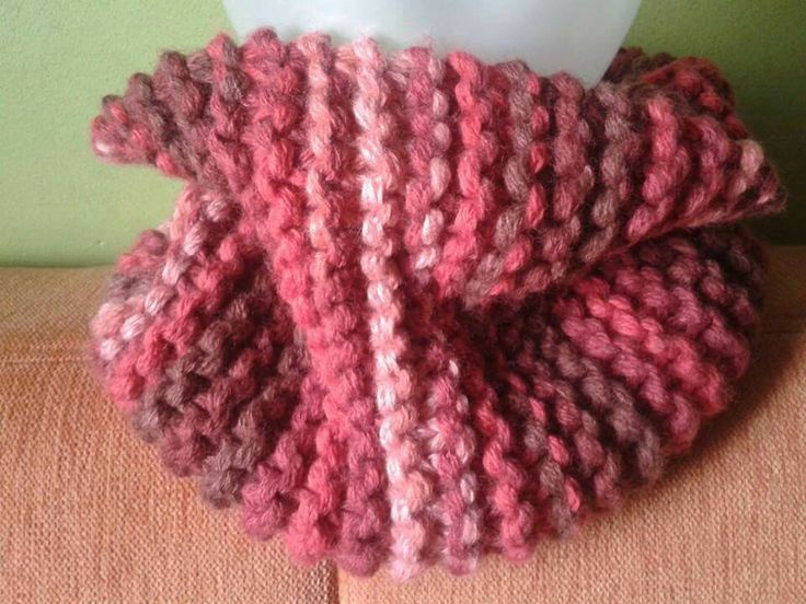 Cuello gigante y gordito con preciosa lana multicolor