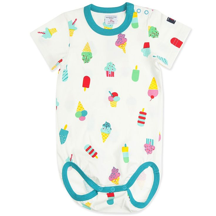 ICE CREAM PRINT BABY BODYSUIT
