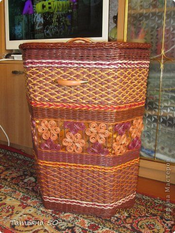 laundry baskets from newspapers
