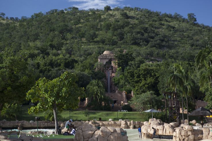 The Temple of Courage at Sun City, South Africa. #SunCity #Holiday #Africa #SouthAfrica #Adventure #Travel #Adventure #Sun #Water #Beach #Swimming #Pool #Summer #Slide