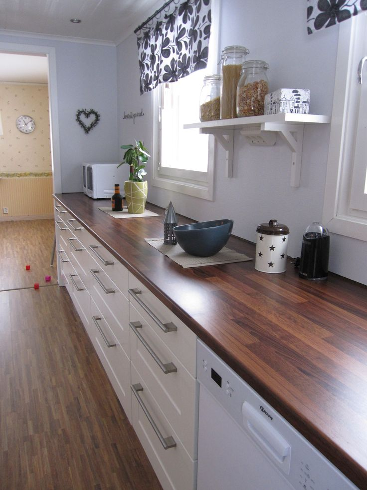 butcher block counter stained dark For the Home Pinterest