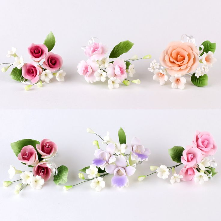37 best gumpaste blossoms images on pinterest fondant for Flower sprays for weddings