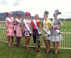 Our girls in race wear designed by local designers at the Townsville Cup