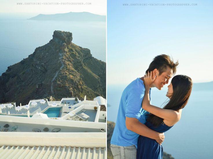 Santorini in love! Skaros in Imerovigli, Santorini island, Greece. - www.oiamansion.com