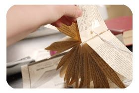 I wanted to try my hand at making Martha's paper bag project  from scratch. (Using book pages not paper bags.) And I thought I'd share m...