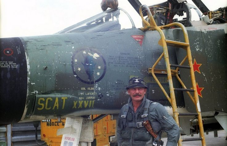 Col Robin Olds & F4. Col. Robin Olds. Triple ace with 12 kills in WWll and four in vietnam.