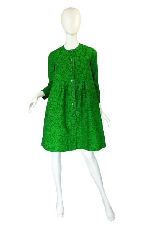 1960s Green Baby Doll Marrimekko Dress