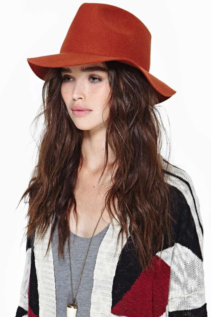 Lone Rider Wool Hat - Rust