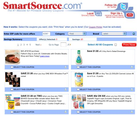 all kinds of grocery coupon companies