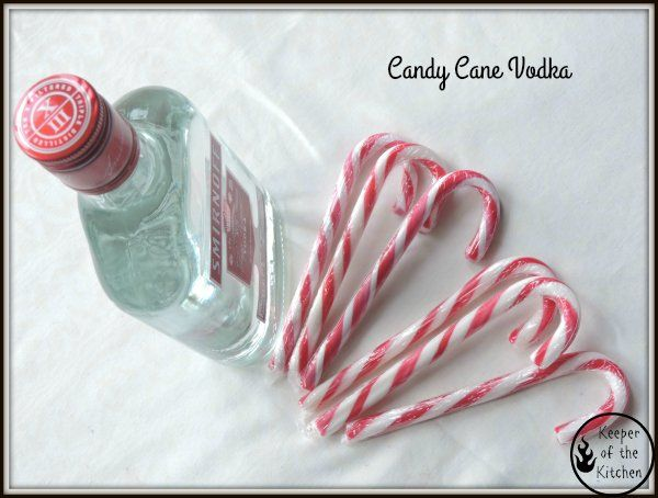 Candy Cane Vodka - perfect for Christmas - and ready in a few days! http://www.keeperofthekitchen.com/2015/12/15/candy-cane-vodka-recipe/