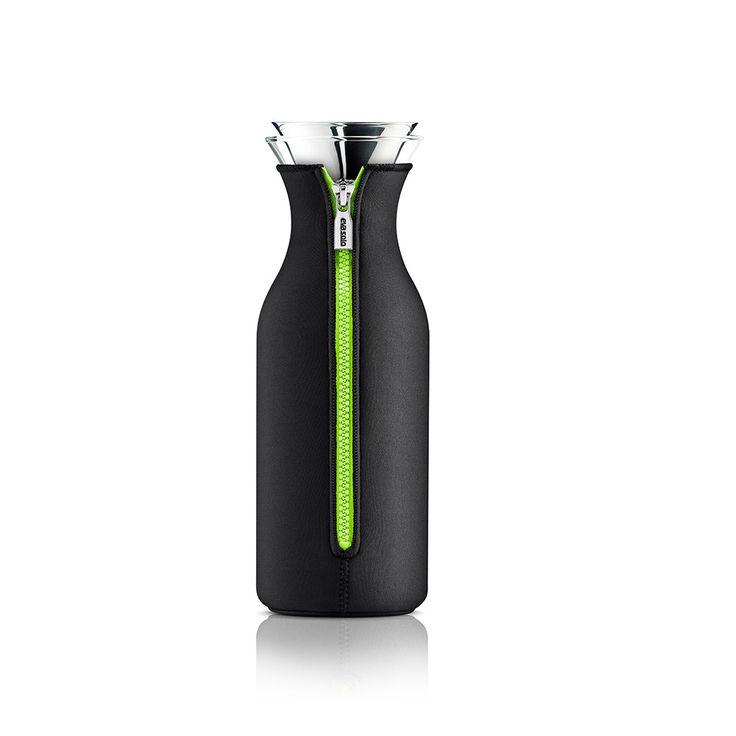 Fridge Carafe with lid & neoprene, Black/Lime $38. - RoyalDesign.com