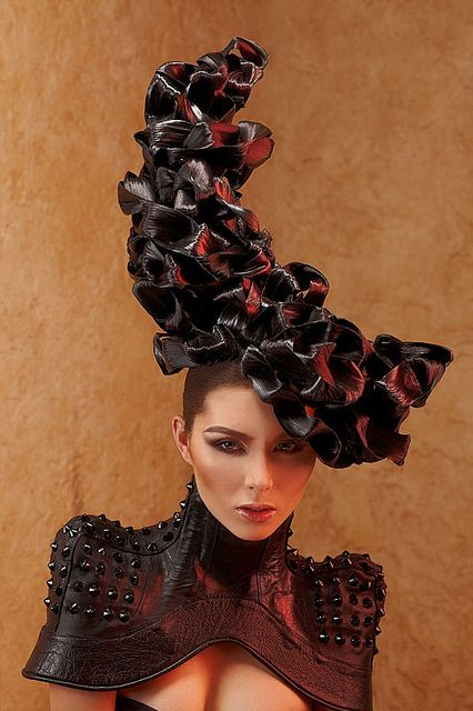 I need a shoulder dress like this for that maleficent costume I want to do. (Hair Couture by Sean Armenta, via Flickr)