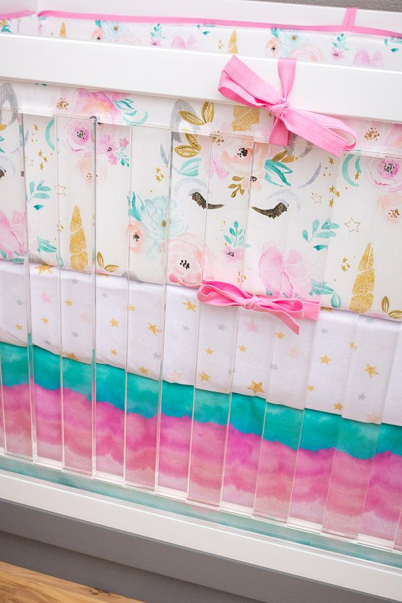 Girl Crib Bedding Unicorn Nursery Set Girl Baby Bedding Gift For