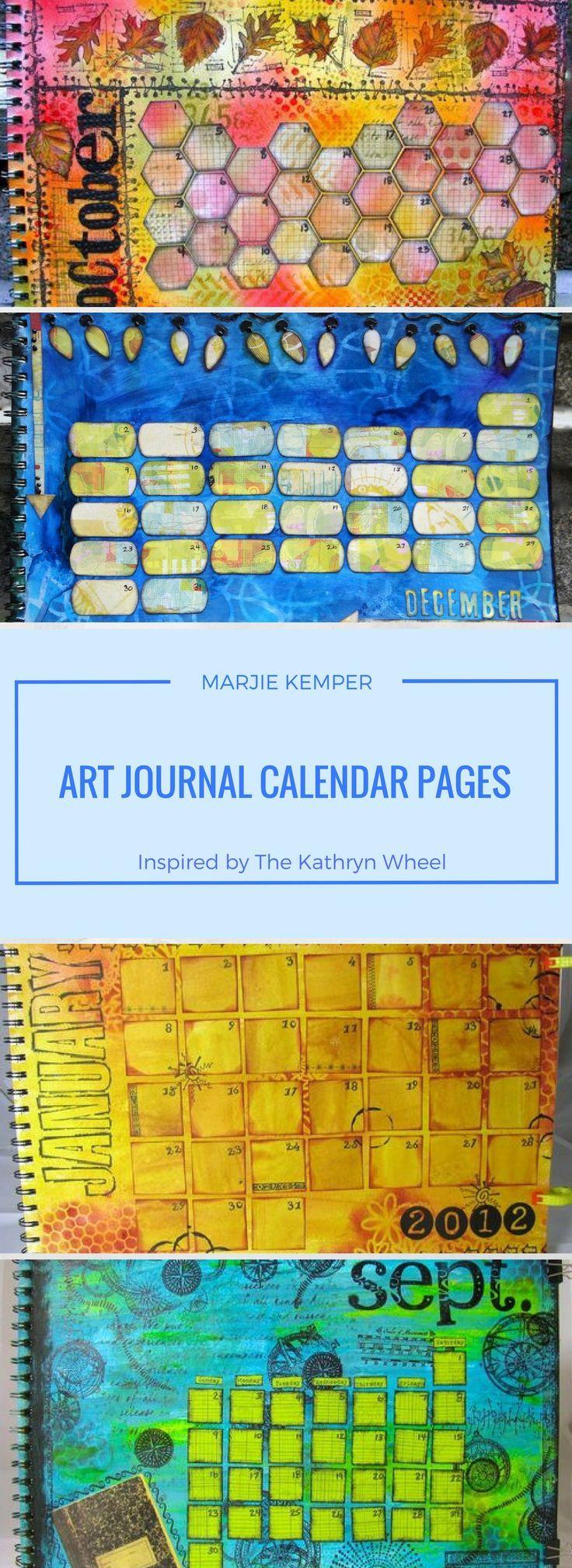 Art Journal Calendar Pages : Best images about art journal inspiration on pinterest