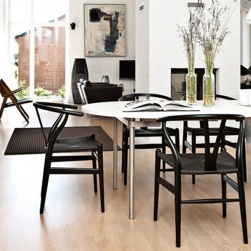 Many People Donu0027t Know That The Wegner Wishbone Chair Is Also Available  With A Black Seat. The Black Seat Wishbone Chair Is A Beautiful  Representation Of ...